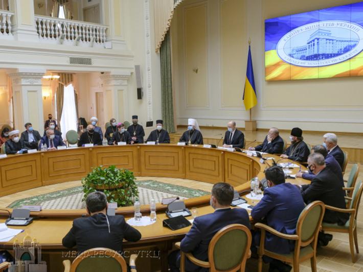 Всеукраїнська рада Церков і Прем'єр-міністр домовилися опрацювати ключові позиції для взаємодії під час адаптивного карантину