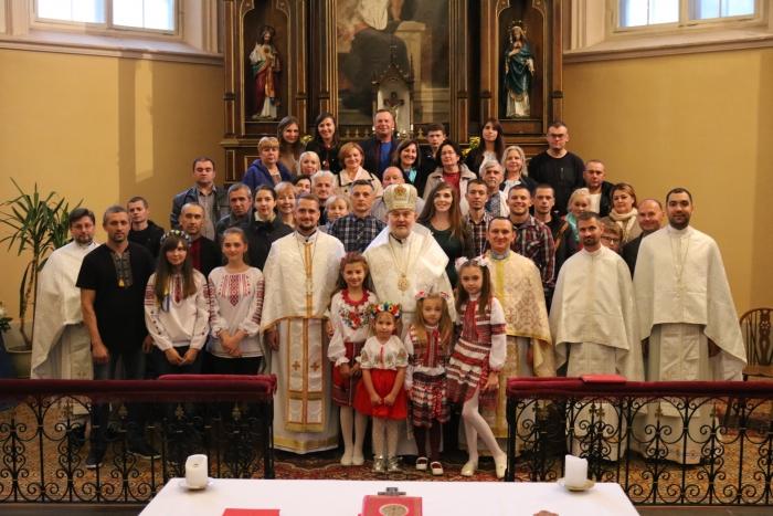 Владика Йосиф (Мілян) відслужив Літургію в Тарту і поспілкувався з громадою