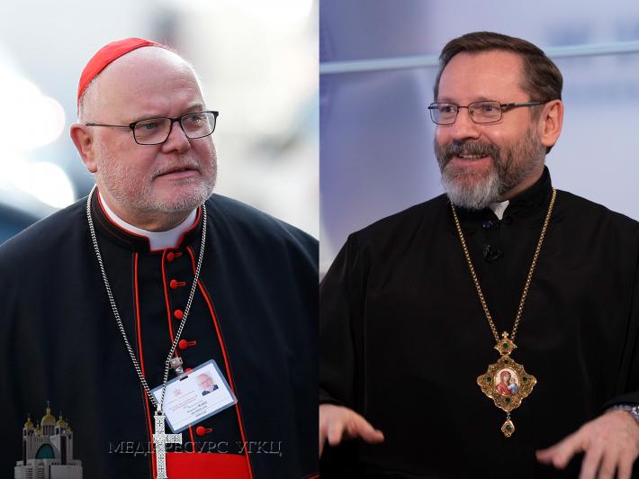 Блаженніший Святослав і владика Богдан Дзюрах зустрілися з кардиналом Райнгардом Марксом