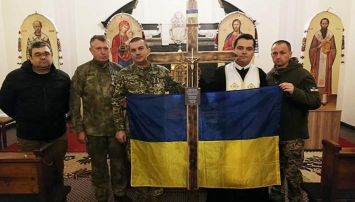 Українські воїни відвідали храм Пресвятої Тройці УГКЦ у Вільнюсі