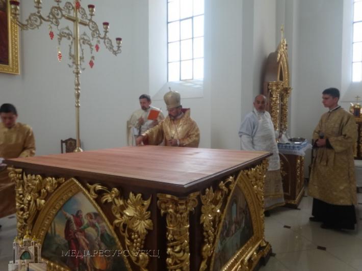Владика Ярослав освятив храм в с. Берестяни на Самбірщині