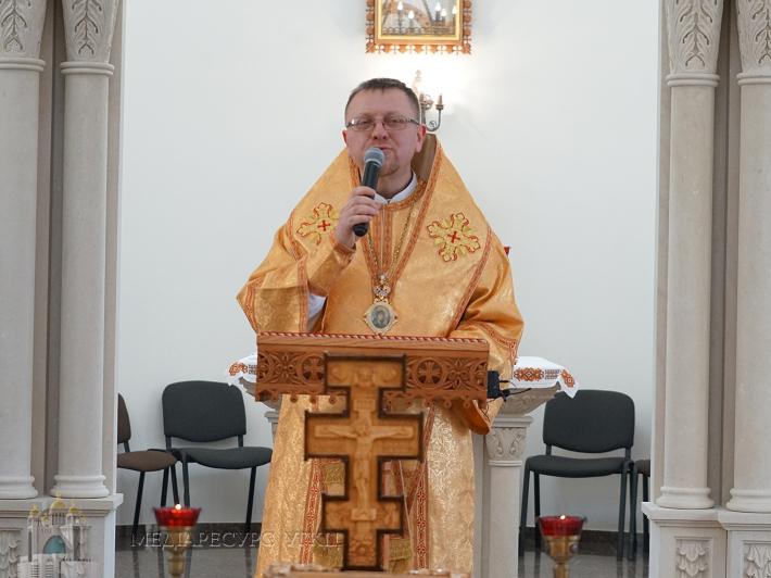 Владика Володимир Груца провів день духовної віднови для працівників Патріаршої курії у Львові