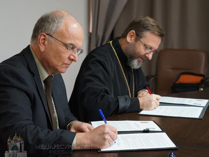 Глава УГКЦ та очільник Спілки української молоді підписали Меморандум про співпрацю