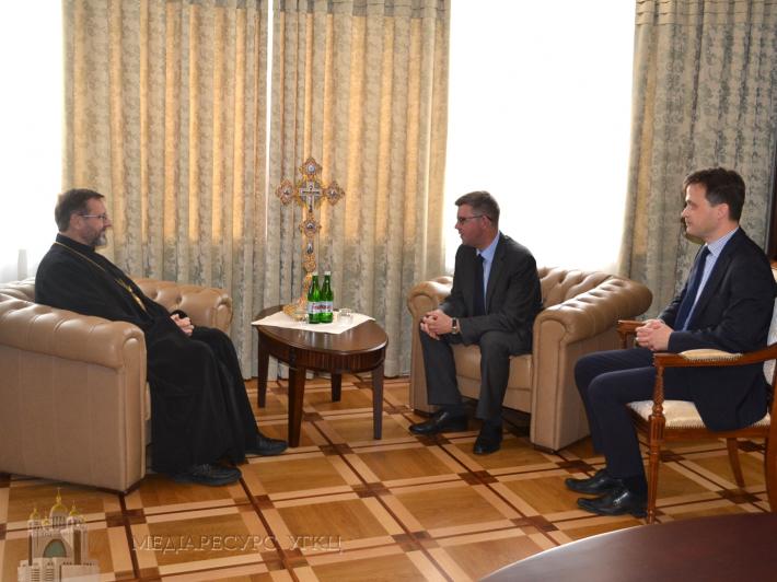 Блаженніший Святослав зустрівся з послом Литви в Україні