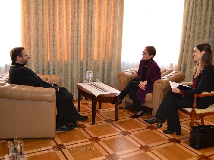 Глава УГКЦ обговорив з послом США в Україні суспільно-політичну та релігійну ситуацію в нашій країні