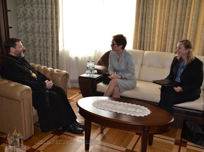 «Ми позитивно оцінюємо зусилля задля визнання єдиної Православної Церкви», — Глава УГКЦ до Посла США в Україні