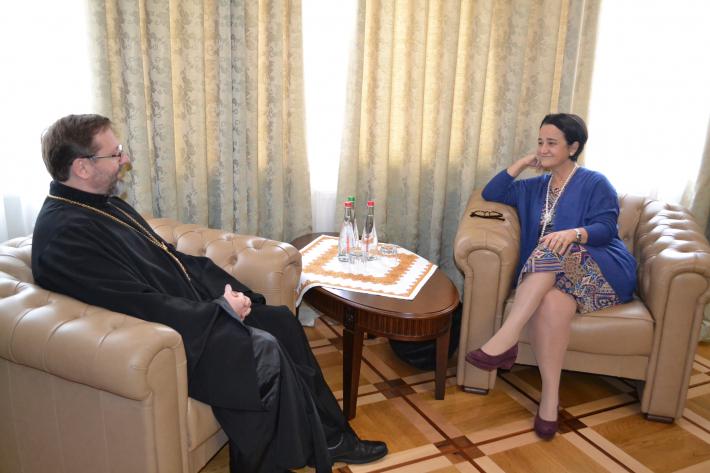 Глава УГКЦ зустрівся з новопризначеним Надзвичайним і Повноважним послом Іспанії в Україні