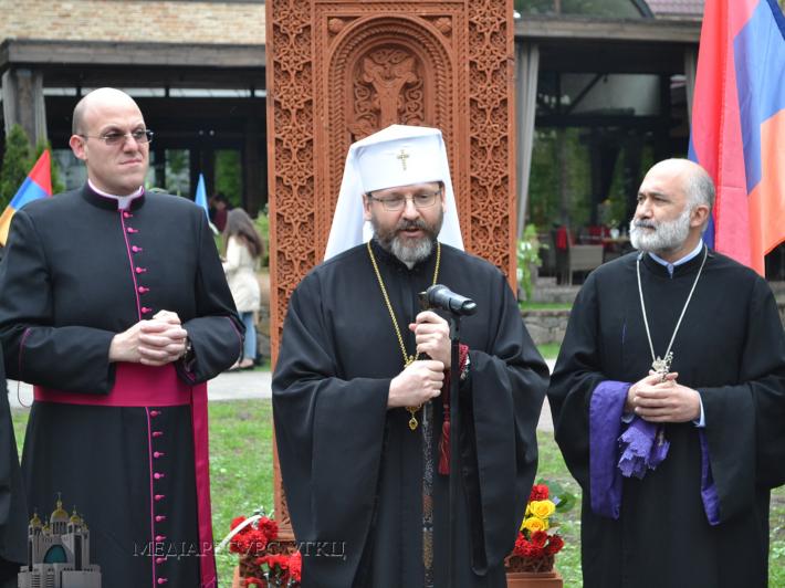 Блаженніший Святослав взяв участь у спільній молитві за жертв Геноциду вірмен