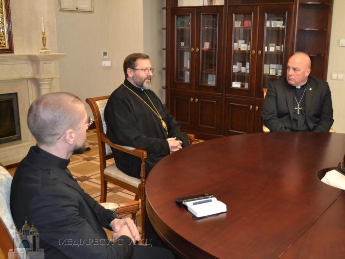 Глава УГКЦ зустрівся з військовими капеланами військ США у Європі