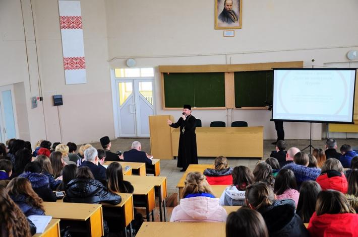 З нагоди 25-ліття від заснування Самбірсько-Дрогобицької єпархії владика Ярослав зустрівся з викладачами та студентами Дрогобицького педуніверситету