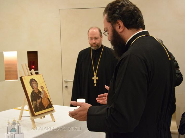 На головному вокзалі Австрії освятили ікону Матері Божої