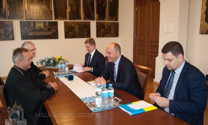 Митрополит і Архиєпископ Євген (Попович) зустрівся з Головою Верховної Ради України