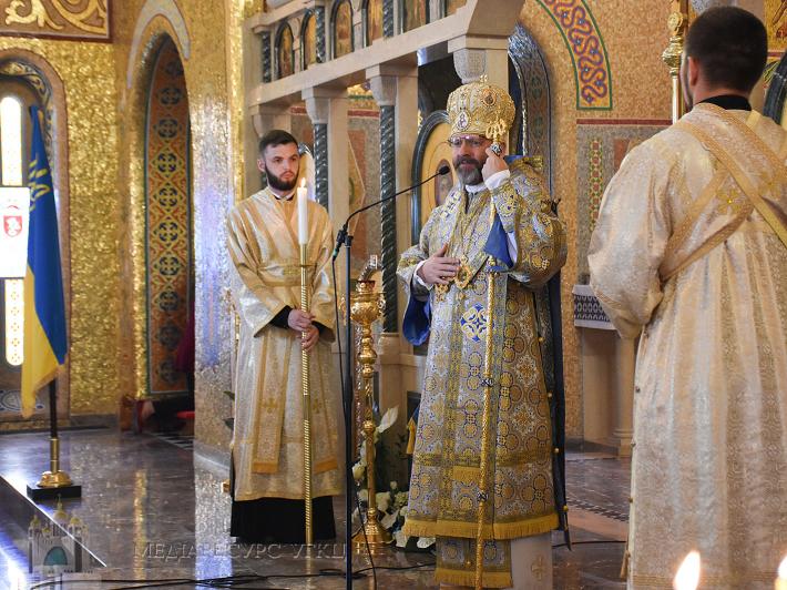 «Наш народ почувається в безпеці під покровом Пречистої Діви Марії», – Глава УГКЦ на свято Покрови