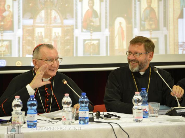 Синод Єпископів УГКЦ відвідав кардинал Пєтро Паролін, Держсекретар Ватикану
