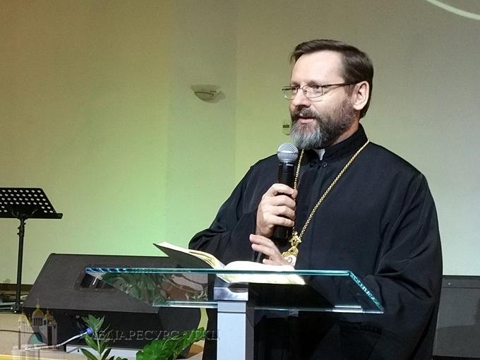 Глава УГКЦ помолився за єдність християн у протестантському домі молитви «Філадельфія»