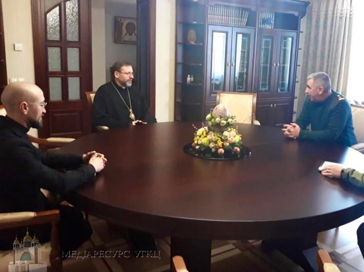 Глава УГКЦ зустрівся з командувачем Національної гвардії України