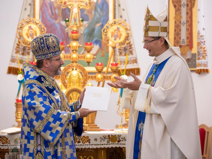 Глава УГКЦ прийняв рекомендаційного листа від Апостольського нунція в Україні архиєпископа Вісвальдаса Кульбокаса