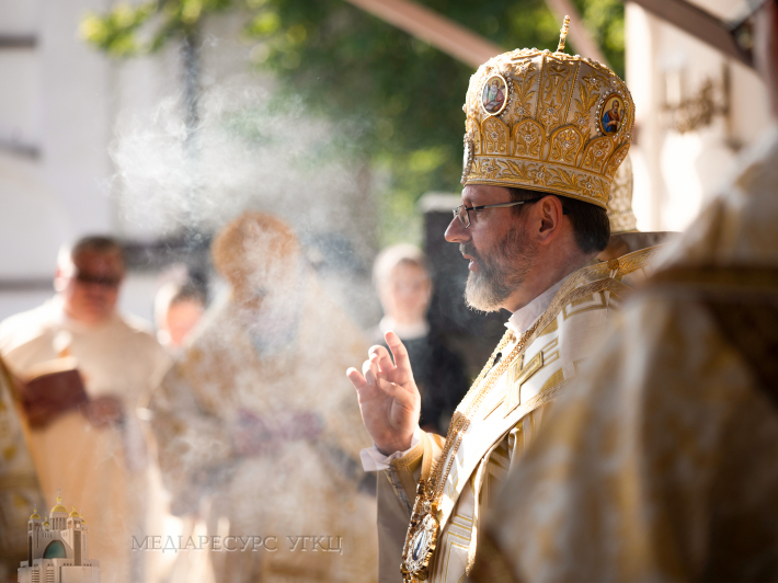 Глава УГКЦ під час Літургії у Зарваниці, 18 липня 2021 року / фото: Олександр Савранський