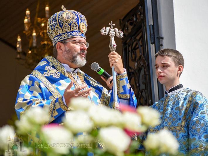 Глава УГКЦ на прощі в Уневі, 28 серпня 2021 року, фото: Христина Кутнів