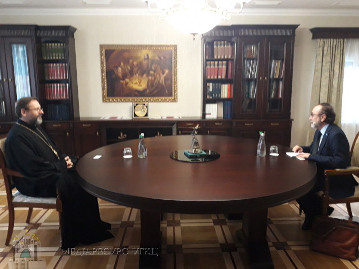 His Beatitude Sviatoslav met with the Head of the UN Office for the Coordination of Humanitarian Affairs