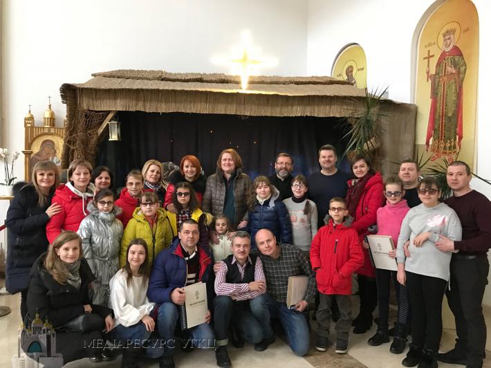 Главі УГКЦ заколядували незрячі діти та солісти «Піккардійської терції»