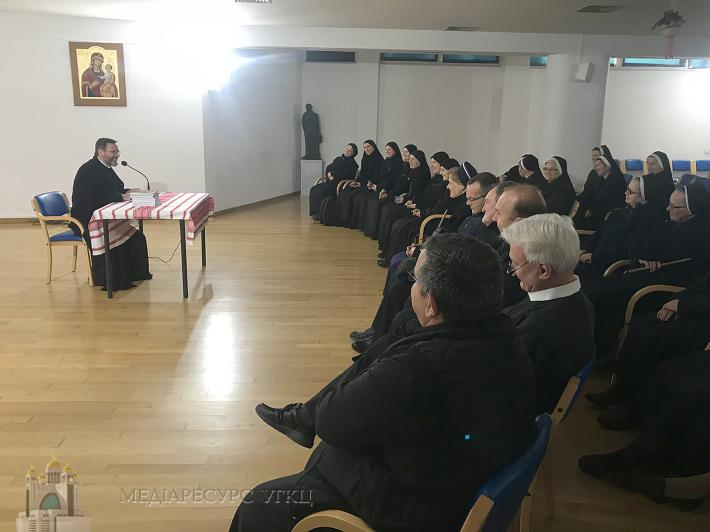 Блаженніший Святослав зустрівся з монашеством УГКЦ в Римі