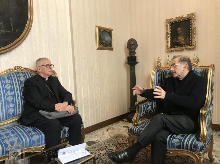 Владика Діонісій Ляхович зустрівся з архиєпископом Мілану