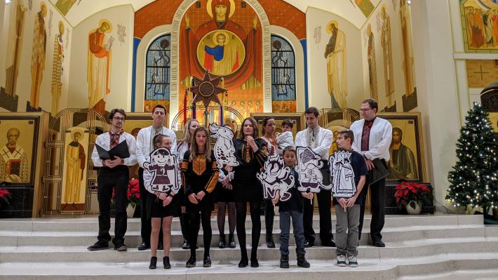 Українська коляда – у греко-католицькому храмі Канади