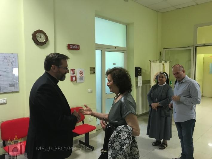His Beatitude Sviatoslav visited children