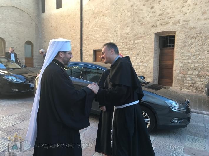 В Асижі (Італія) Глава УГКЦ закликав монахів францисканців молитися за мир в Україні