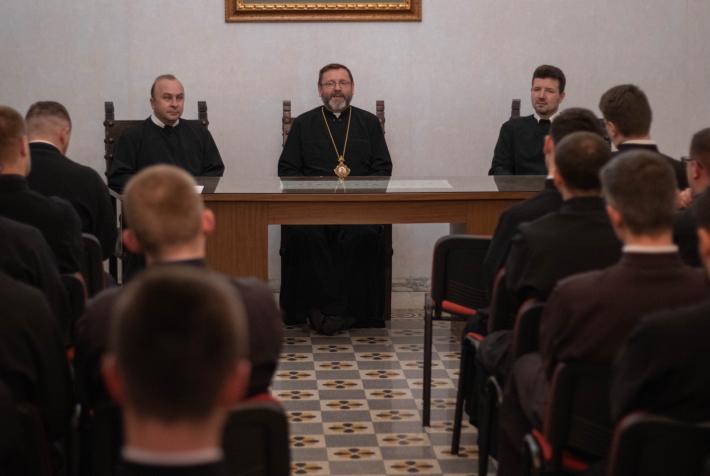 Блаженніший Святослав відвідав Українську папську колегію в Римі