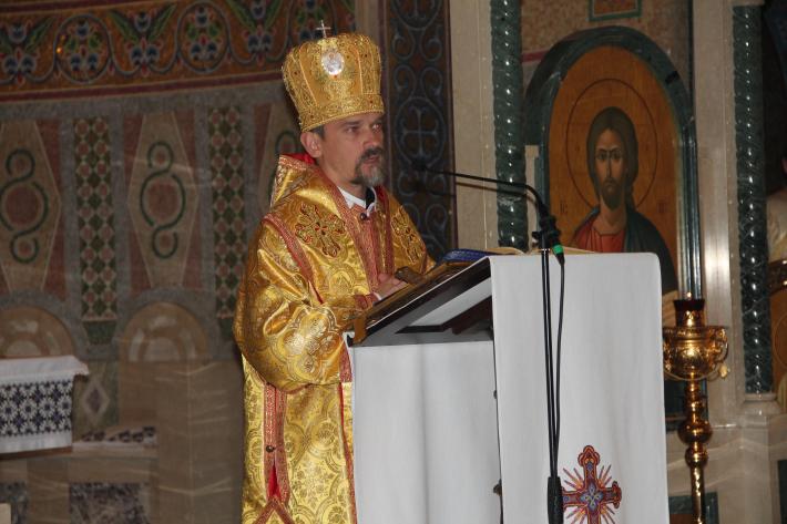 «В образі біблійного Лазаря сьогодні ми бачимо Україну», - владика Теодор (Мартинюк) у соборі Святої Софії в Римі