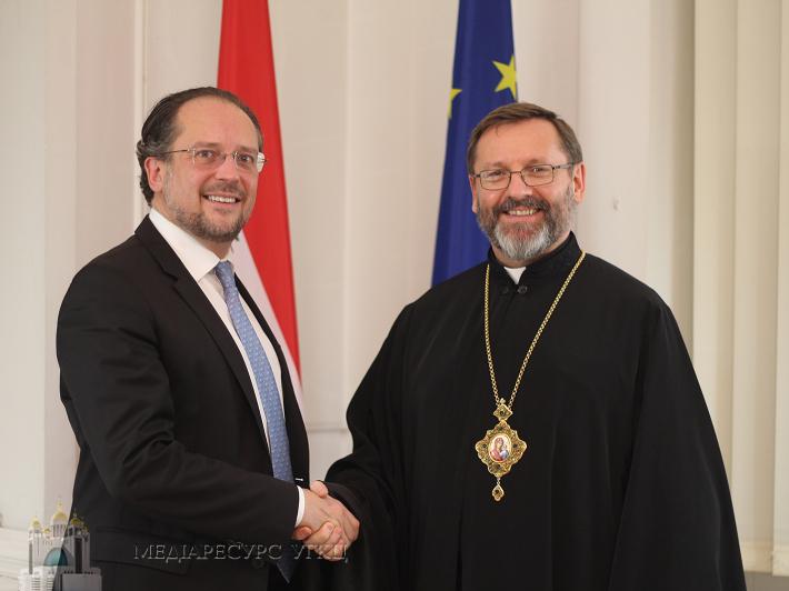 Глава УГКЦ в МЗС Австрії: «Ми цінуємо намагання Австрії дипломатичним шляхом припинити агресію РФ щодо України»