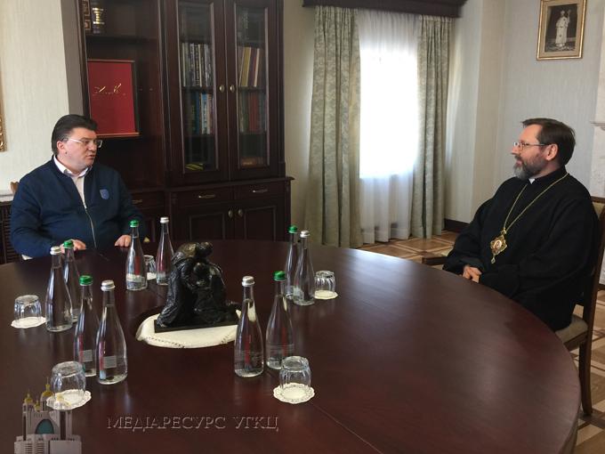 «Українська молодь на перше місце ставить сім'ю», – Глава УГКЦ зустрівся з міністром молоді та спорту України