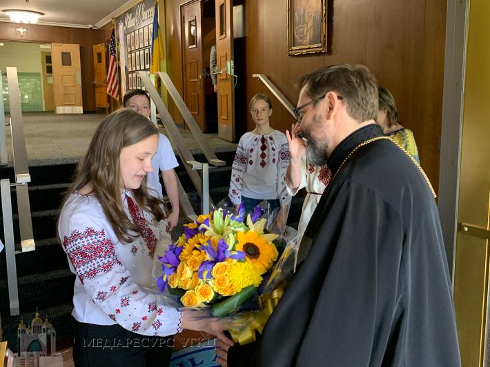 Блаженніший Святослав до українських школярів у Філадельфії: «Я вас заохочую щиро любити свої звичаї, мову, берегти свою християнську віру»
