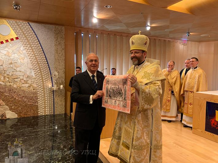 Блаженніший Святослав зустрівся з головним осередком «Лицарів Колумба» в США