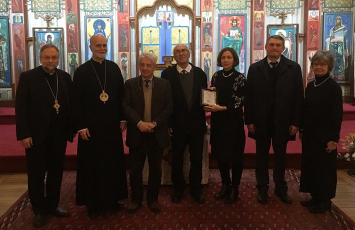 У паризькому соборі Володимира Великого професору Б'янко вручили нагороду за дослідження Голодомору в Україні