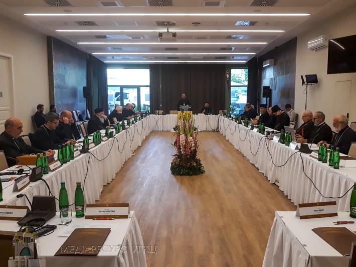 На фото: Глава УГКЦ виголошує свою доповідь перед східними католицькими єпископами Європи, Будапешт, 8 вересня 2021 року