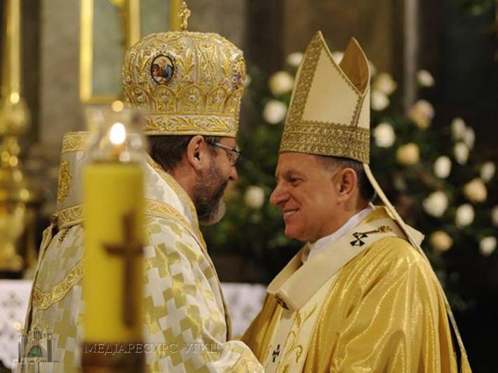 Глава УГКЦ привітав римо-католиків з 30-річчям відновлення структур Римо-Католицької Церкви в Україні