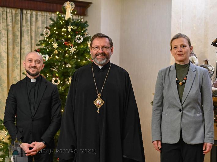 Блаженніший Святослав зустрівся з міністеркою у справах ветеранів України Юлією Лапутіною