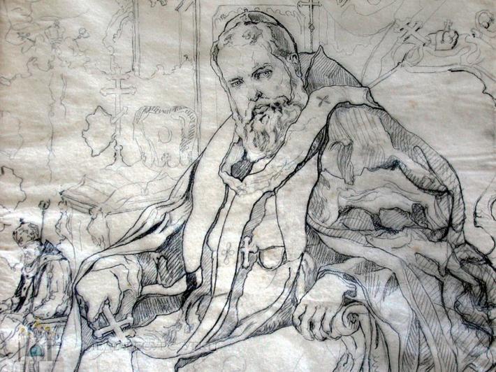 Новаківський Олекса. Портрет митрополита Андрея Шептицького