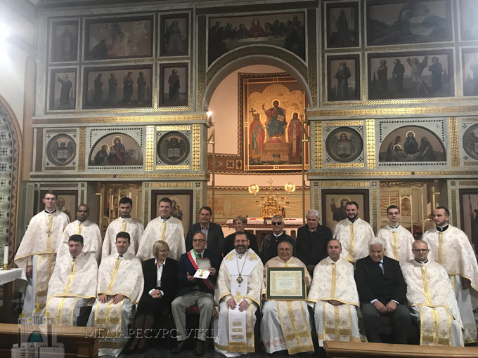 Глава УГКЦ вручив папську нагороду італійському священику