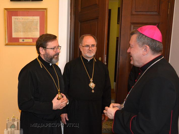 Блаженніший Святослав подякував Митрополитові Вроцлавському Юзефу Купному за відкритість і допомогу для українців Польщі