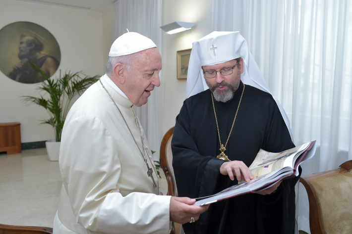 «Під час екуменічної молитви в місті Барі я молитимусь і пам'ятатиму про Україну», – Папа Франциск до Блаженнішого Святослава