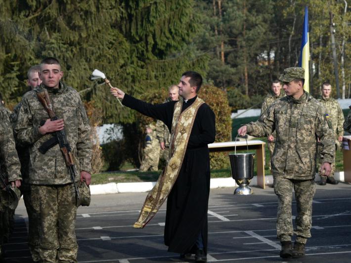 Капелан привітав військовослужбовців з нагоди урочистої присяги на вірність українському народу
