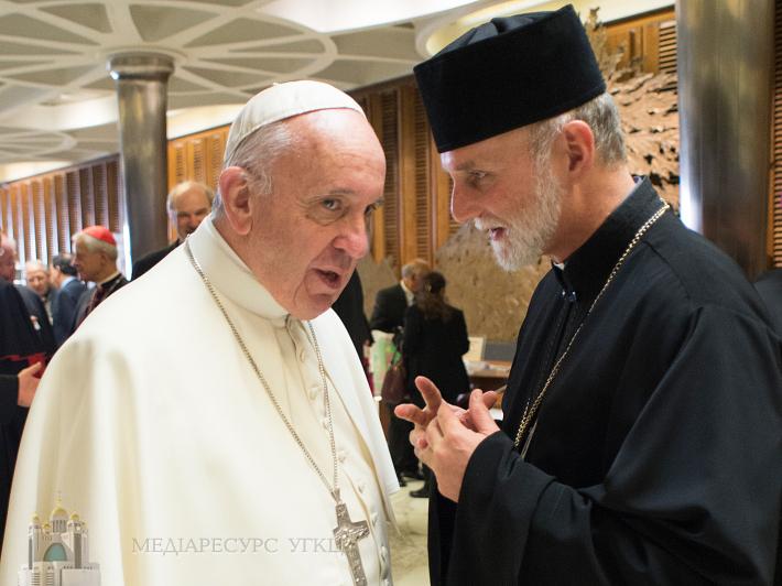 Святіший Отець прийняв на приватній аудієнції владику Бориса Ґудзяка