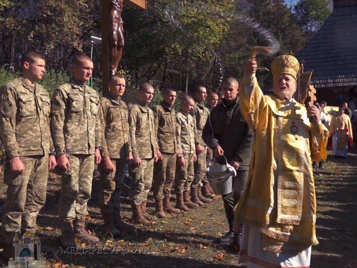 Посвята українського війська під покров Пресвятої Богородиці