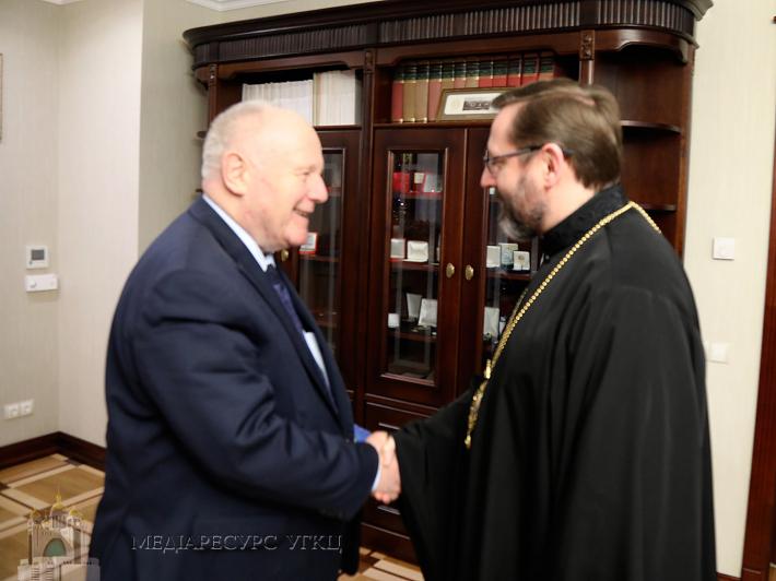 Глава УГКЦ обговорив зі спеціальним посланником Німеччини в Україні Георгом Мільбрадтом українські реформи