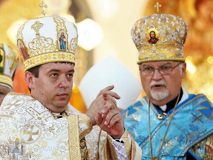 Newly-ordained Auxiliary Bishop Andriy Rabiy served a Hierarchical Divine Liturgy in the Ukrainian Catholic Cathedral of the Immaculate Conception