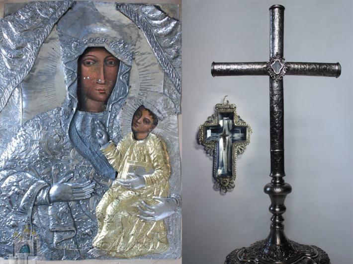 До храму села Устя-Зелене Бучацької єпархії урочисто повернули копію чудотворної ікони та частинку Хреста Господнього